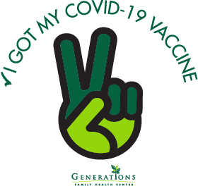 COVID VAC STICKER