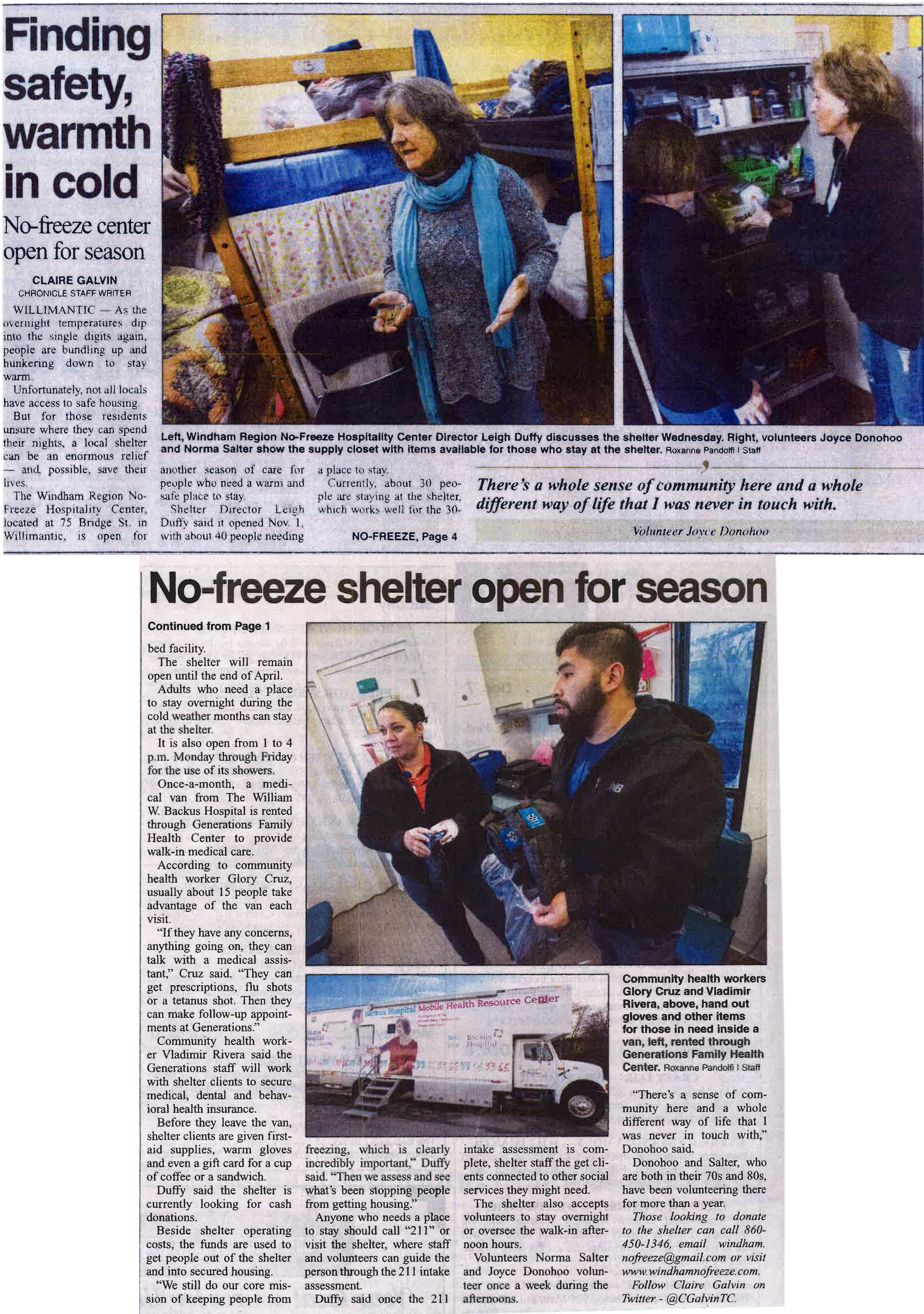 nofreeze shelter news